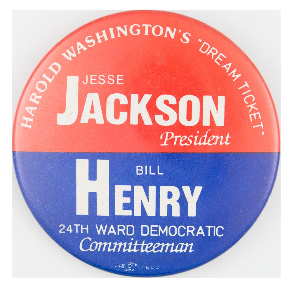 Harold Washington Dream Ticket Political Button Museum