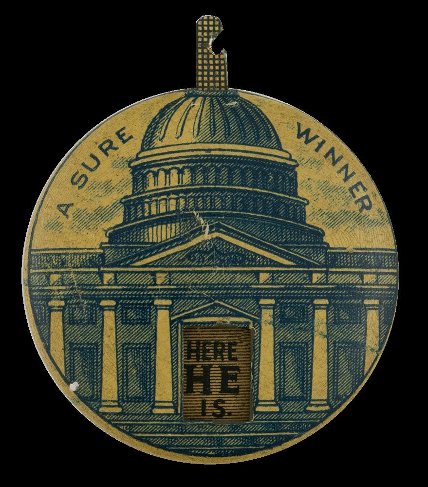 Sure Winner Political Busy Beaver Button Museum