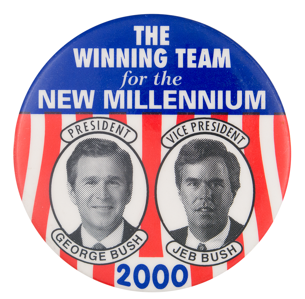 The Winning Team for the New Millennium Political Button Museum