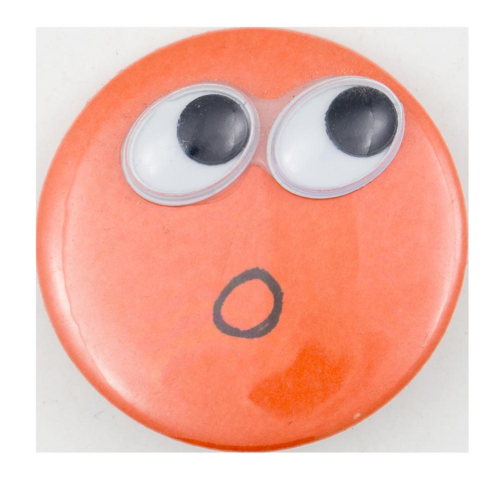 Googley Eyes Face Art Button Museum