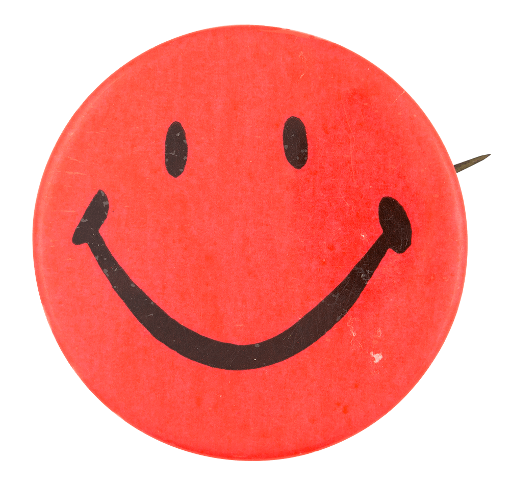 Red Smiley 2 Smiley Button Museum