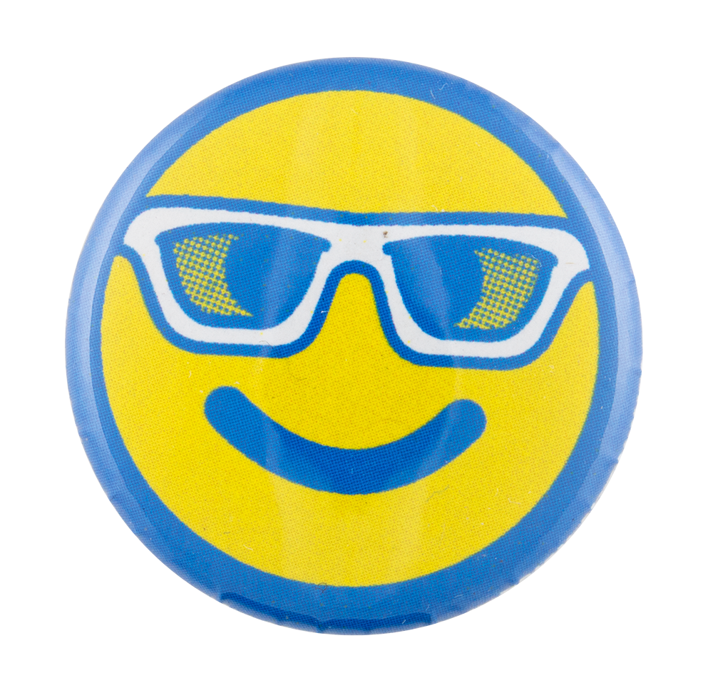 Auto Line Used Car Dealership Smiley Face | Busy Beaver Button Museum