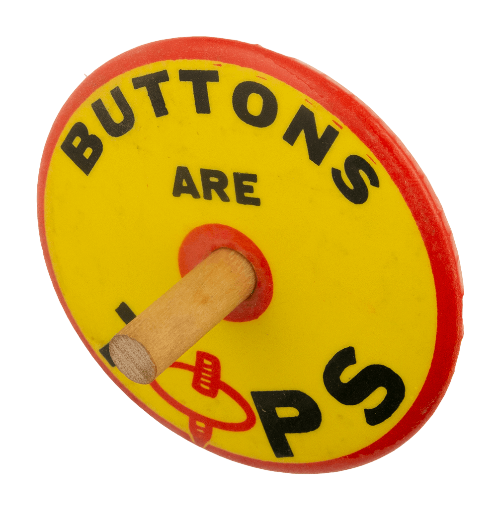 Buttons Are Tops alt Self Referential Busy Beaver Button Museum