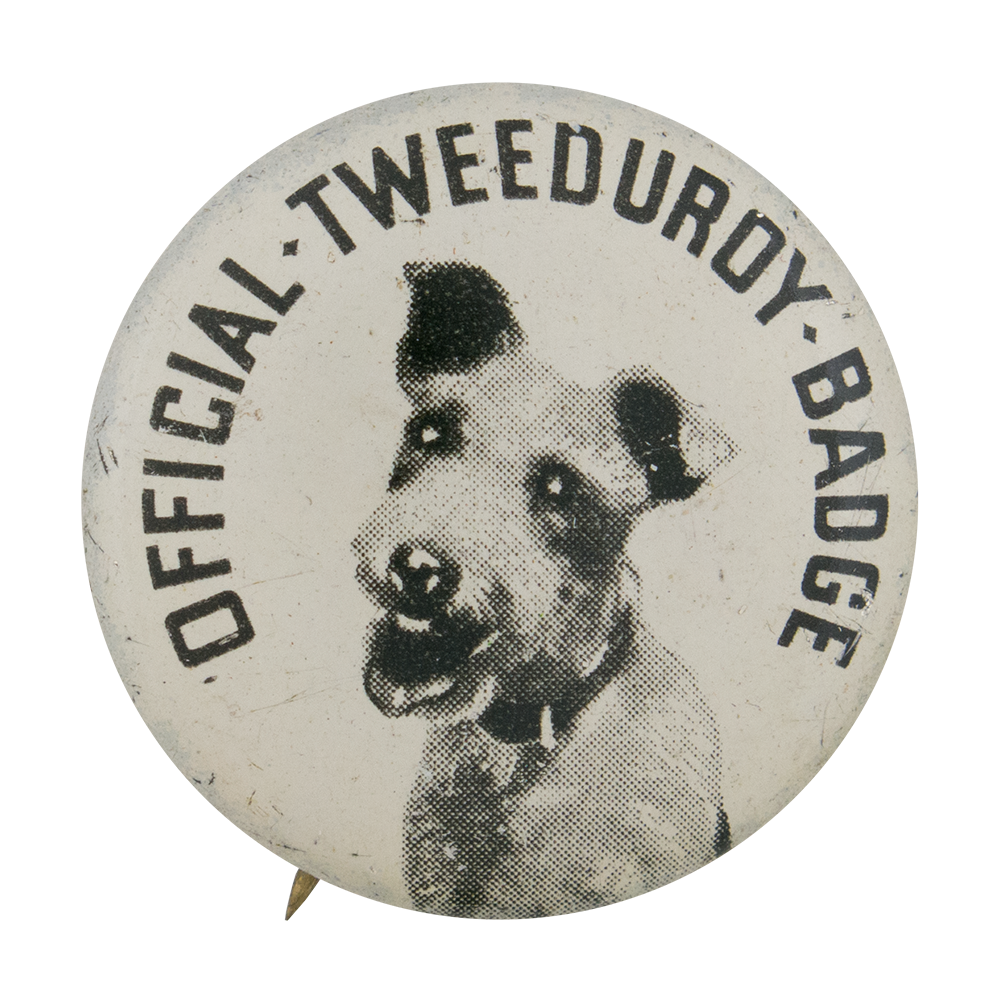 Official Tweeduroy Badge Self Referential Button Museum
