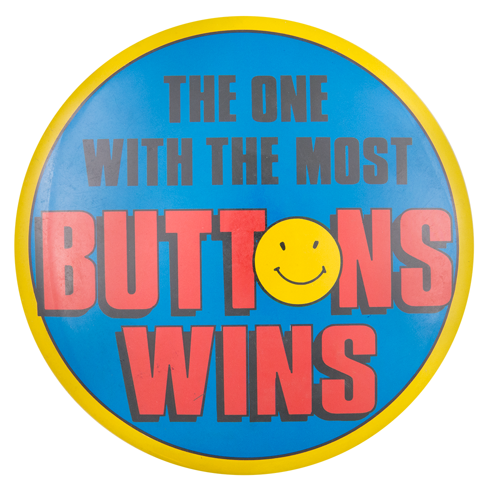 The One With the Most Buttons Wins Self Referential Button Museum