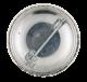 The California Raisins Singer button back Advertising Button Museum