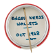Enger Kress Wallets button back Advertising Button Museum