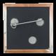 Bare Chest button back Art Button Museum