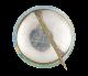 Doberman Pinscher button back Art Button Museum