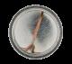 Four Leaf Clover button back Art Button Museum