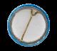 Origami Crane Blue button back Art Button Museum