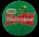 Budweiser Green Lenticular alt Beer Busy Beaver Button Museum