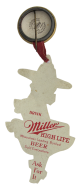 Miller High Life Woman and Moon button back Beer Button Museum