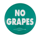 No Grapes Green Cause Button Museum