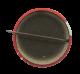 Split Man button back Humorous Button Museum