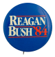 Reagan Bush '84 blue Political Busy Beaver Button Museum