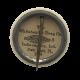 A Beveridge Volunteer button back Political Button Museum