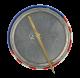 Humphrey Muskie Flag button back Political Button Museum