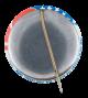 Reagan Flag button back Political Button Museum