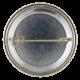 Blue Ribbon Smile button back Social Lubricators Button Museum