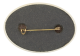 Joy Oval button back Social Lubricator Button Museum