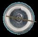 Let's Lock Loins Blue button back Social Lubricators Button Museum