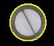 Bob Bily Smiley Yellow button back Political Button Museum