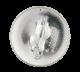 Shamrock Eyes button back Smileys Button Museum