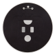 Chicago Blackhawks Logo button back Chicago Button Museum