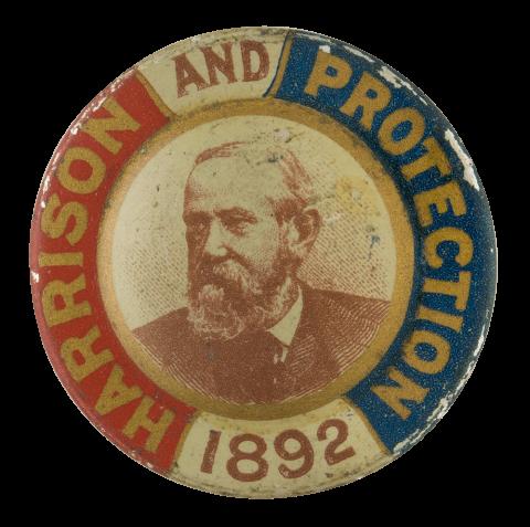 Harrison tin plate button