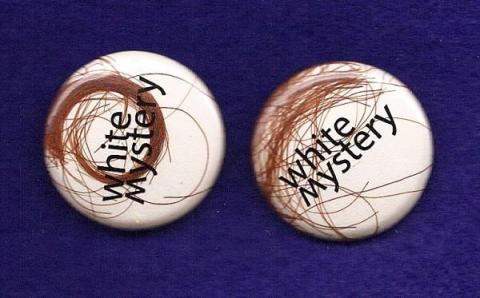 White Mystery Hair Button