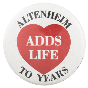 Altenheim Adds Life to Years Advertising Busy Beaver Button Museum