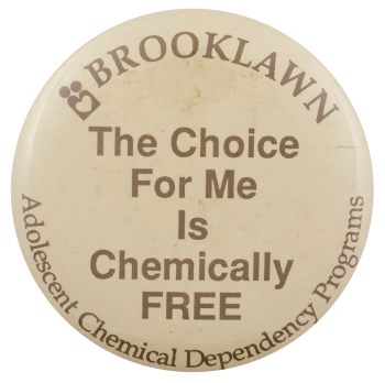 Brooklawn Chemically Free Advertising Busy Beaver Button Museum