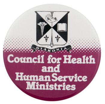 Council for Health and Human Service Ministries Advertising Busy Beaver Button Museum