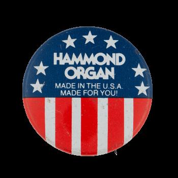 Hammond Organ USA Advertising Busy Beaver Button Museum