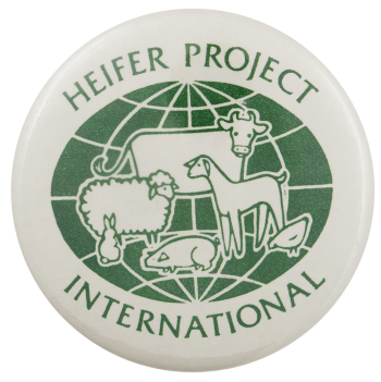 Heifer Project International Advertising Busy Beaver Button Museum