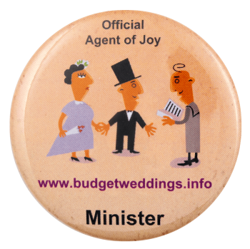 Official Agent of Joy Minister Advertising Busy Beaver Button Museum