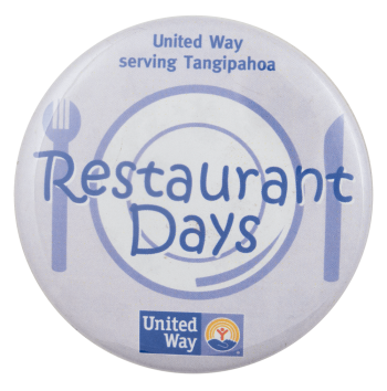 Restaurant Days Advertising Busy Beaver Button Museum