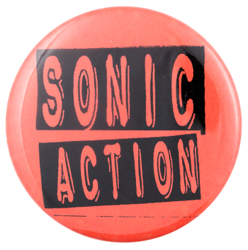Sonic Action Advertising Busy Beaver Button Museum