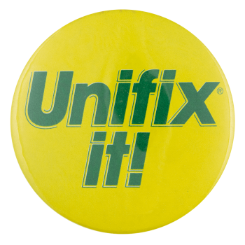 Unifix it Advertising Busy Beaver Button Museum