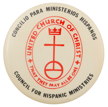 United Church of Christ Hispanic Advertising Busy Beaver Button Museum