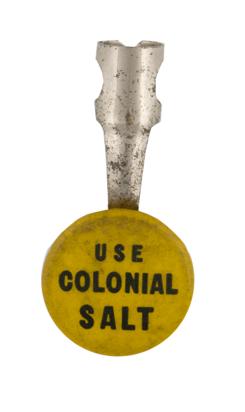 Use Colonial Salt Advertising Busy Beaver Button Museum