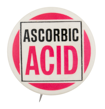 Ascorbic Acid Advertising Button Museum