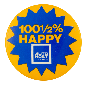 Auto Host Car Rentals Advertising Busy Beaver Button Museum