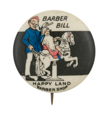 Barber Bill Advertising Button Museum
