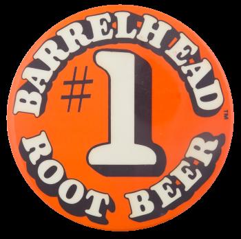 Barrelhead Root Beer Advertising Button Museum