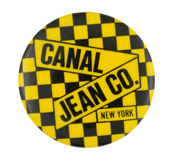 Canal Jean Co. New York Yellow Advertising Button Museum