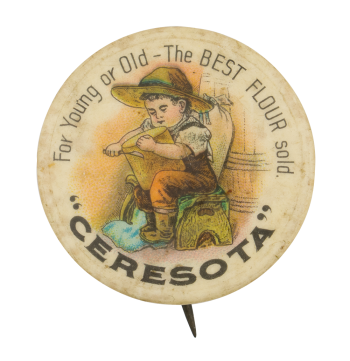 Ceresota Flour Advertising Button Museum