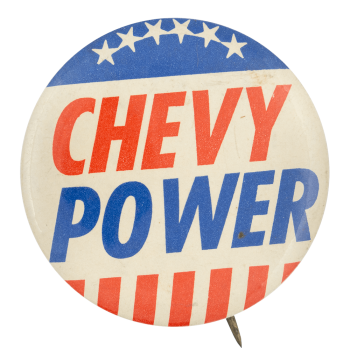 Chevy Power Advertising Button Museum