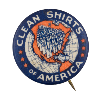 Clean Shirts Of America Advertising Button Museum